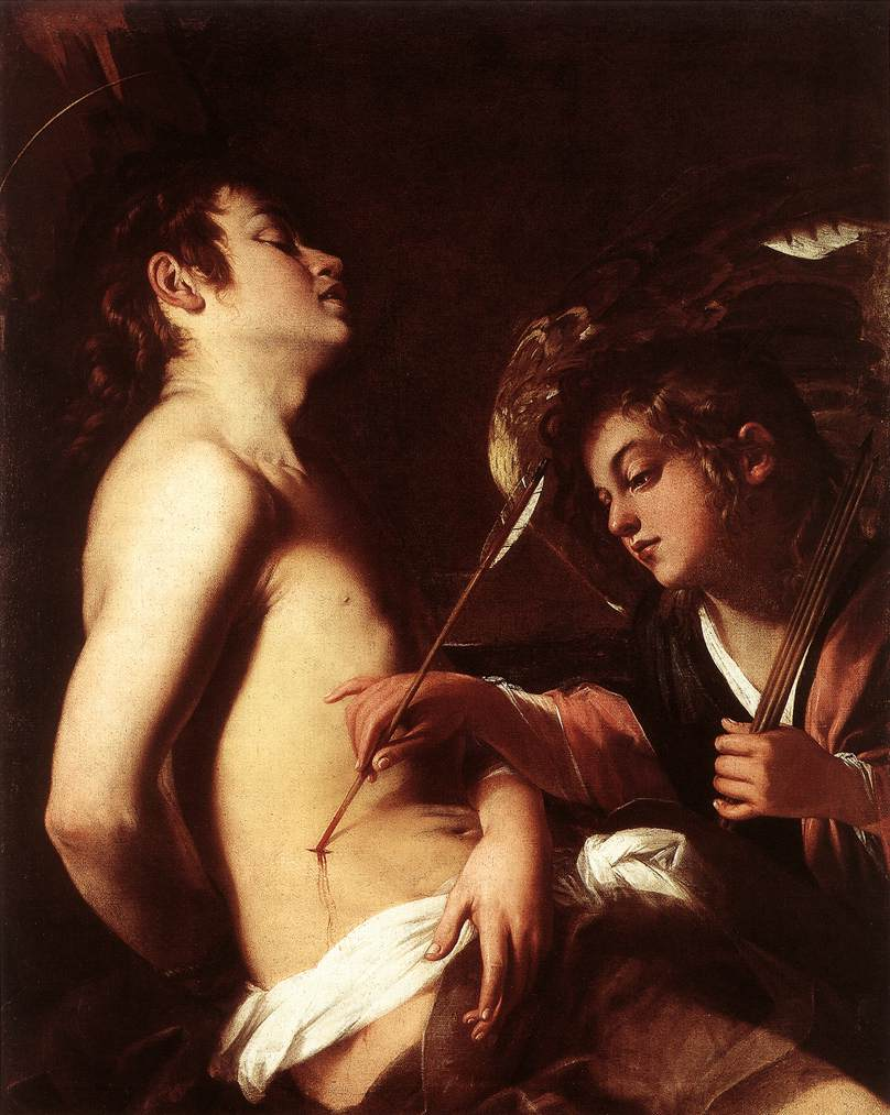 St Sebastian Healed By An Angel 1603 | Giovanni Baglione | Oil Painting