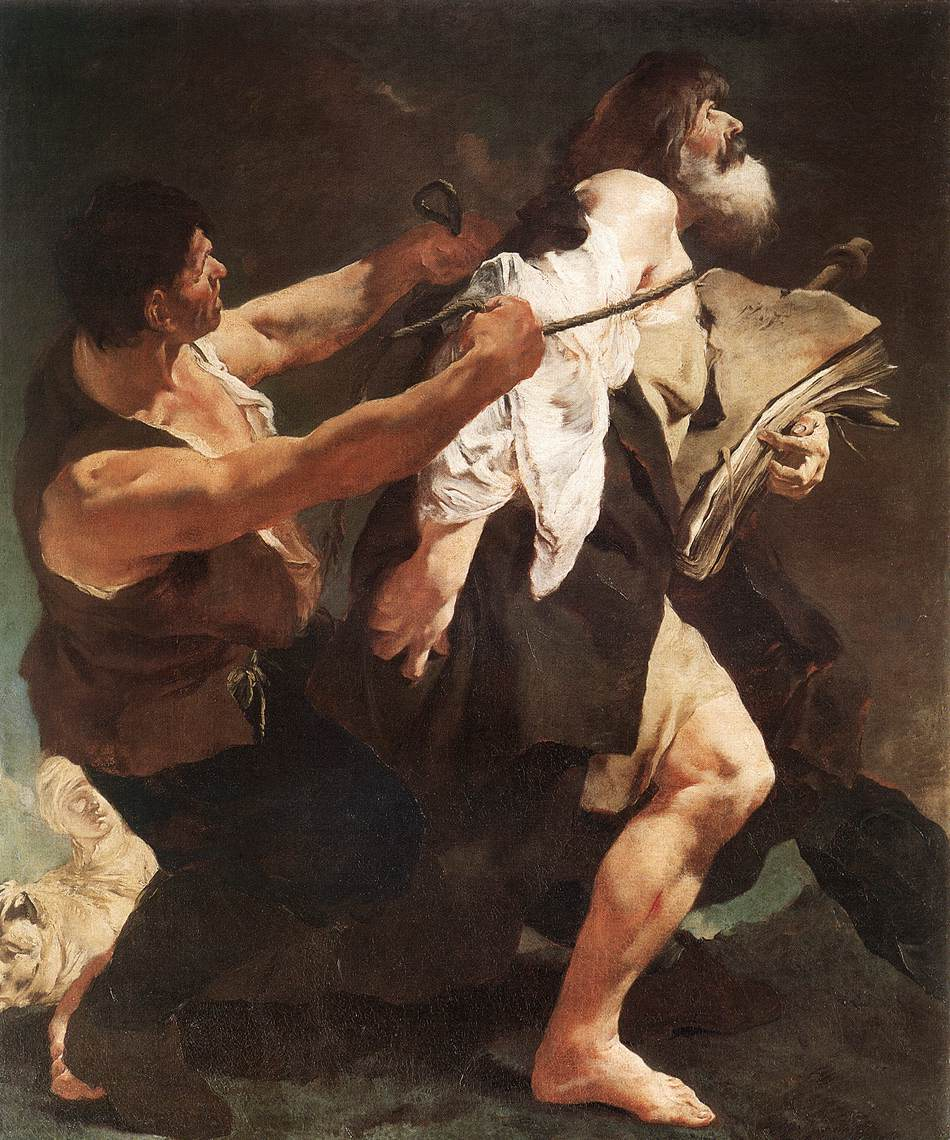 St James Brought To Martyrdom 1722-23 | Giovanni Battista Piazzetta | Oil Painting