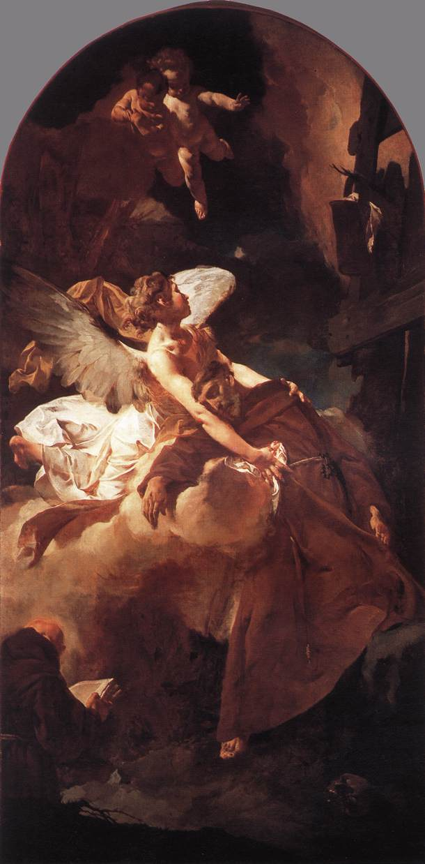 The Ecstasy Of St Francis 1729 | Giovanni Battista Piazzetta | Oil Painting