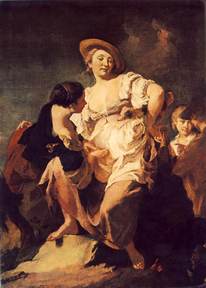 The Soothsayer 1740 | Giovanni Battista Piazzetta | Oil Painting