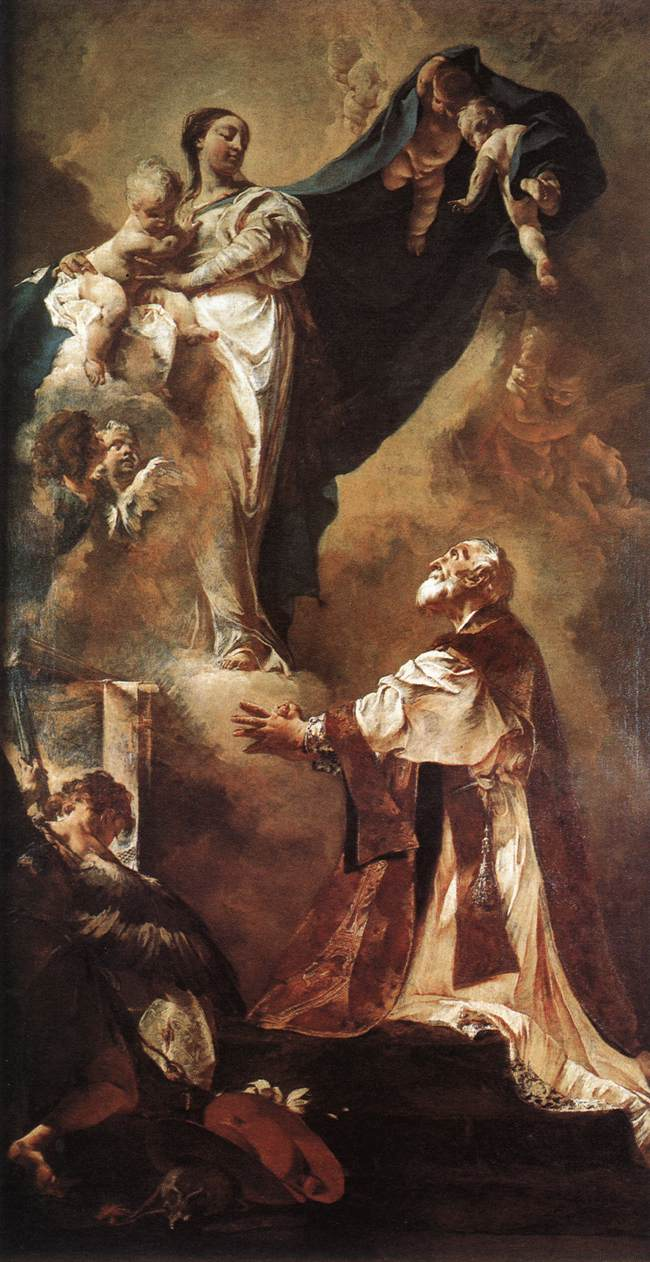 The Virgin Appearing To St Philip Neri 1725 | Giovanni Battista Piazzetta | Oil Painting