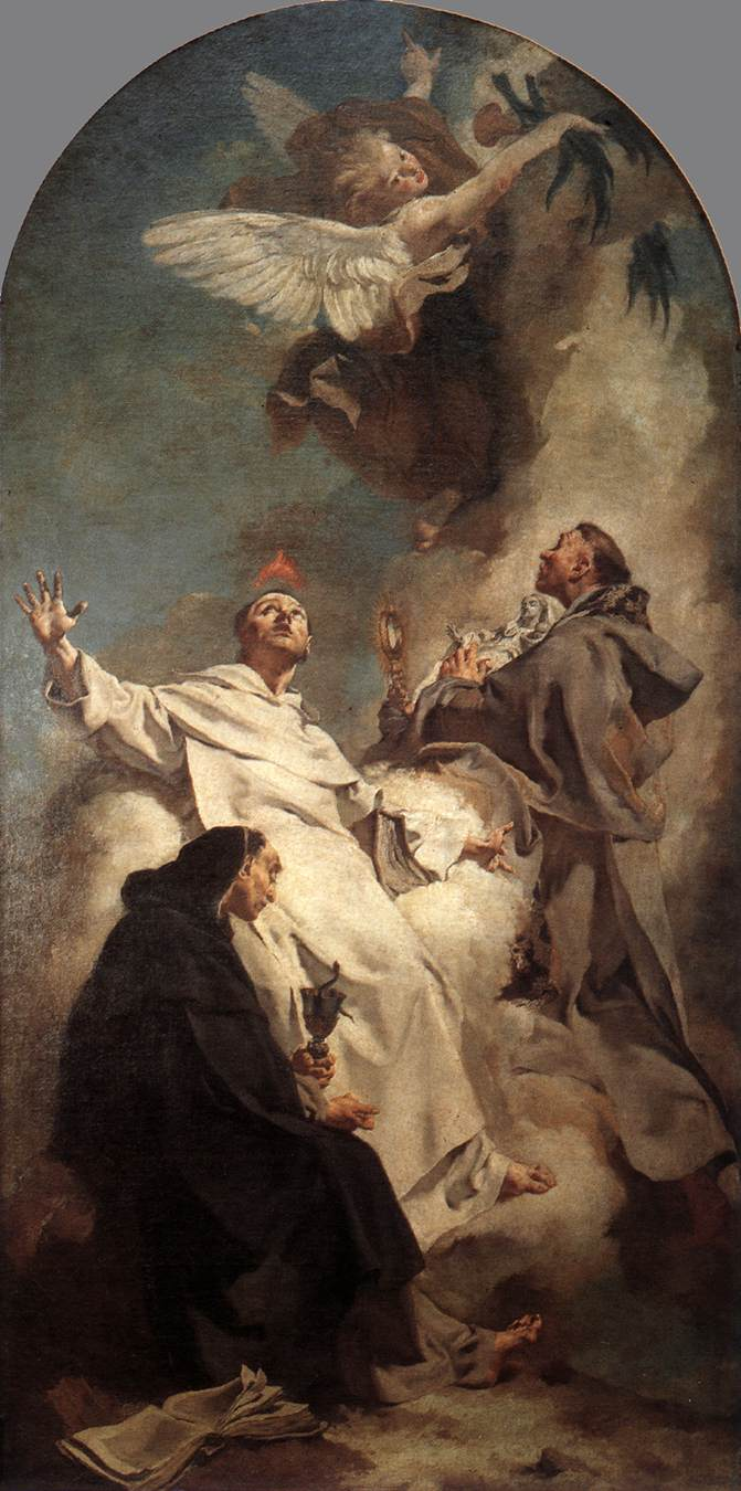 Three Dominican Saints 1738 | Giovanni Battista Piazzetta | Oil Painting