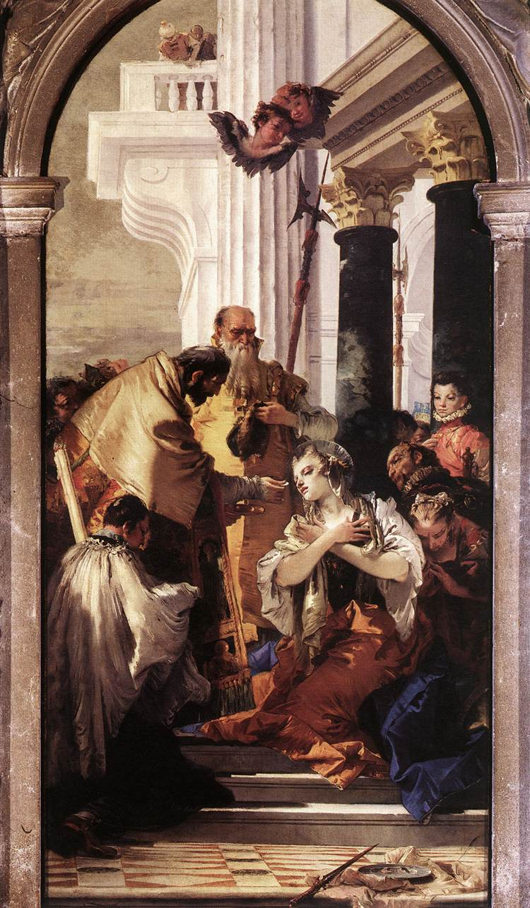 Last Communion Of St Lucy 1747-48 | Giovanni Battista Tiepolo | Oil Painting