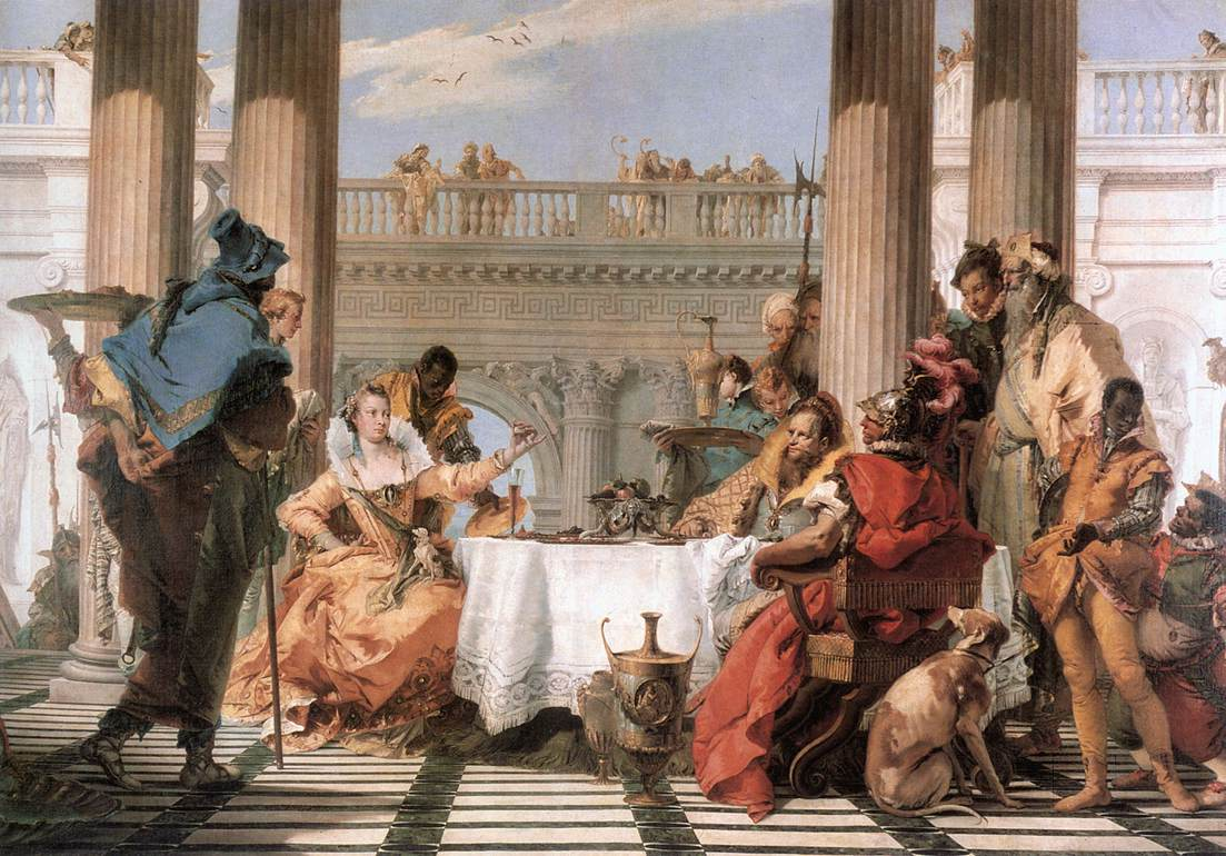 The Banquet Of Cleopatra 1743-44 | Giovanni Battista Tiepolo | Oil Painting