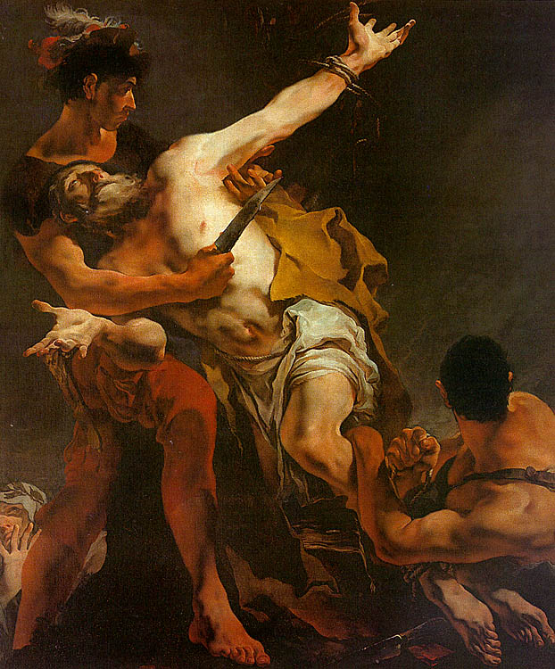 The Martyrdom Of St Bartholomew 1722 | Giovanni Battista Tiepolo | Oil Painting