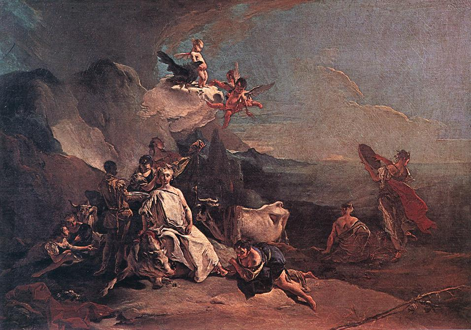 The Rape Of Europa 1725 | Giovanni Battista Tiepolo | Oil Painting