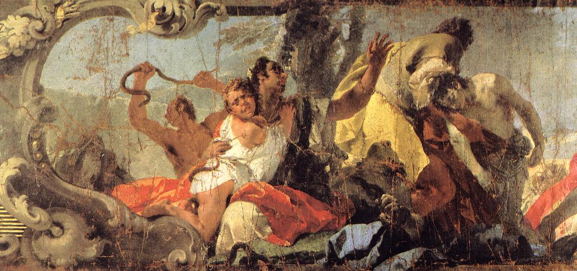 The Scourge Of The Serpents Detai 1732-35 | Giovanni Battista Tiepolo | Oil Painting