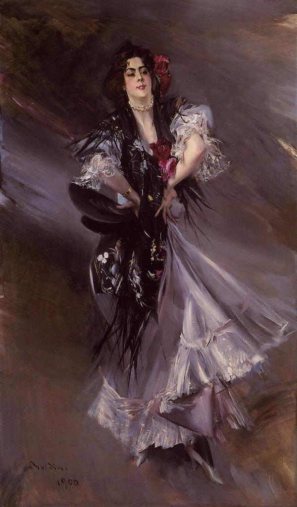 Portrait of Anita de la Ferie The Spanish Dancer 1900   Giovanni Boldini   Oil Painting