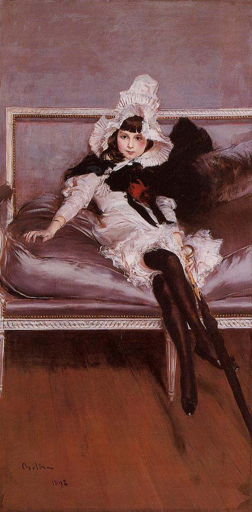 Portrait of Giovinetta Errazuriz 1892 | Giovanni Boldini | Oil Painting