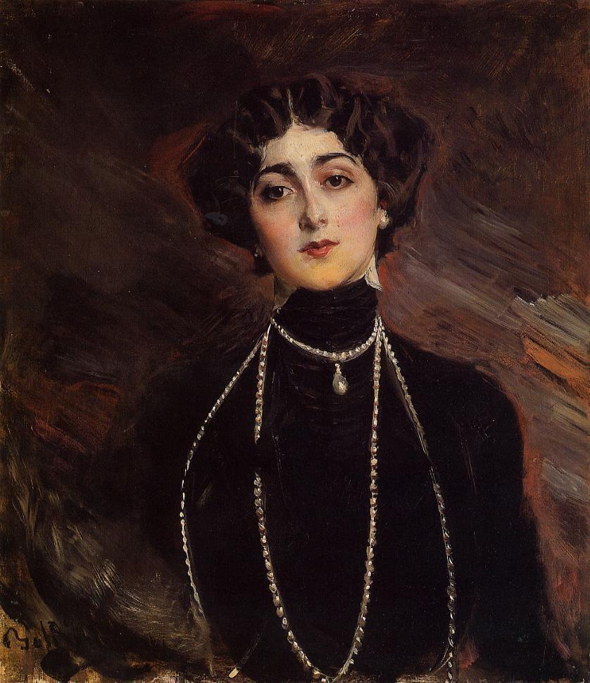 Portrait of Lina Cavalieri 1901 | Giovanni Boldini | Oil Painting