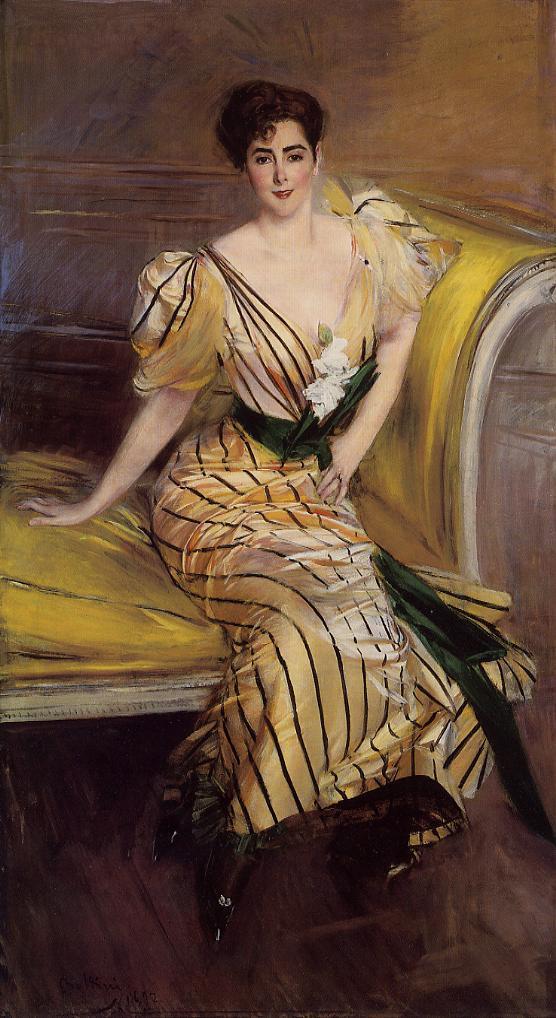 Portrait of Madame Josephina Alvear de Errazuriz 1892 | Giovanni Boldini | Oil Painting