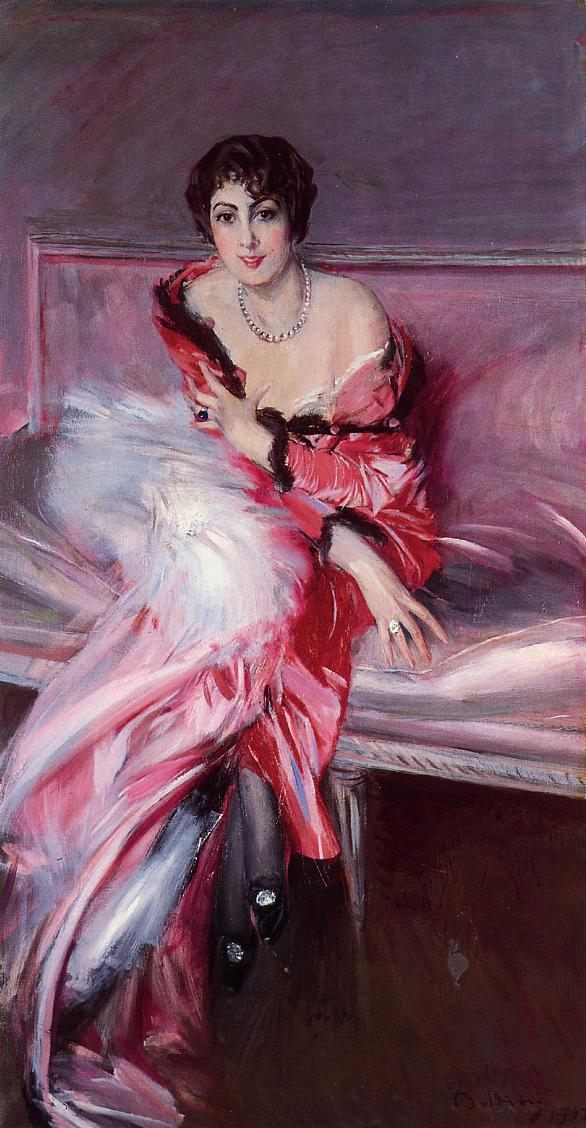 Portrait of Madame Julliard in Red 1912 | Giovanni Boldini | Oil Painting