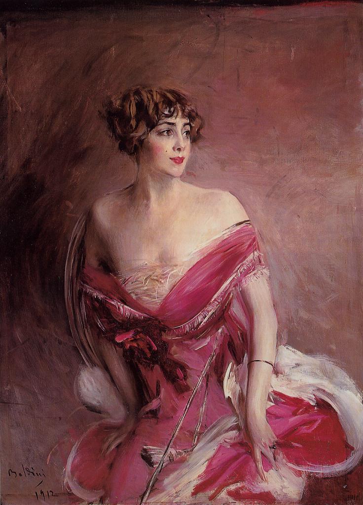 Portrait of Mlle de Gillespie La Dame de Biarritz 1912 | Giovanni Boldini | Oil Painting