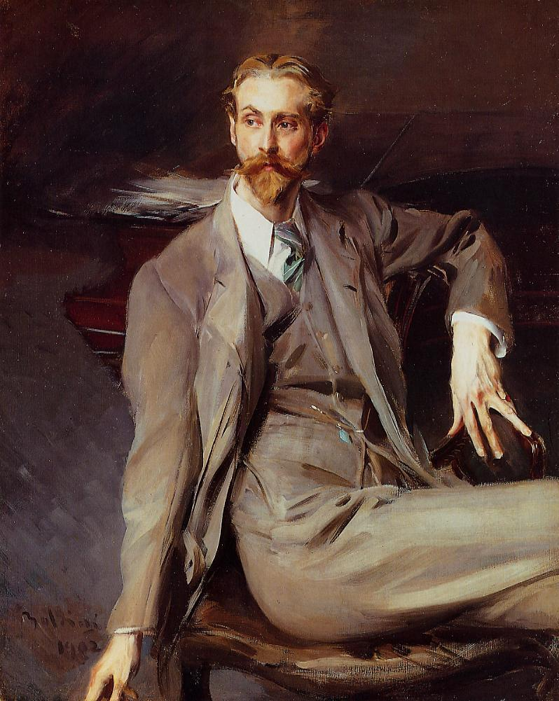 Portrait of the Artist Lawrence Alexander (Peter) Brown 1902 | Giovanni Boldini | Oil Painting
