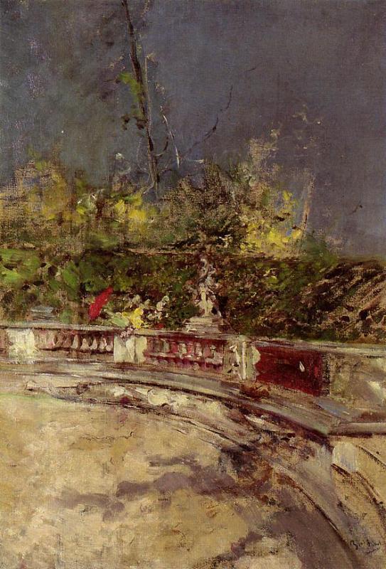 The Red Umbrella 1872-1875 | Giovanni Boldini | Oil Painting