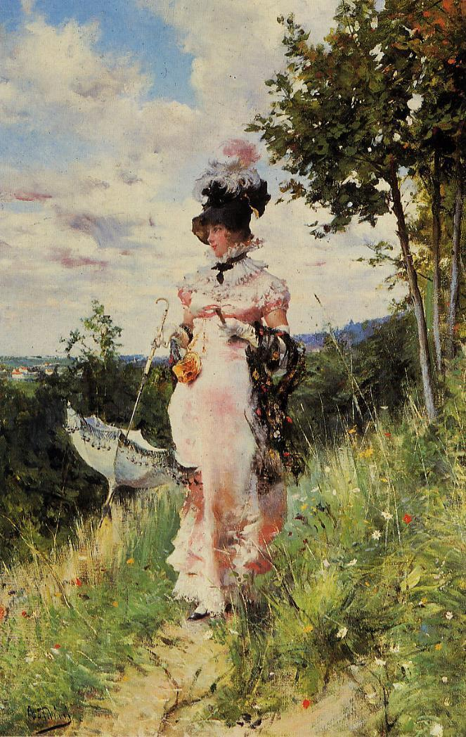 The Summer Stroll | Giovanni Boldini | Oil Painting
