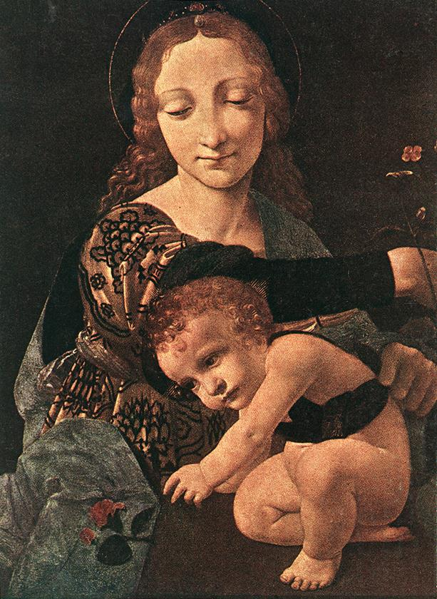 Virgin And Child With A Flower Vase (Detail) | Giovanni Boltraffio | Oil Painting