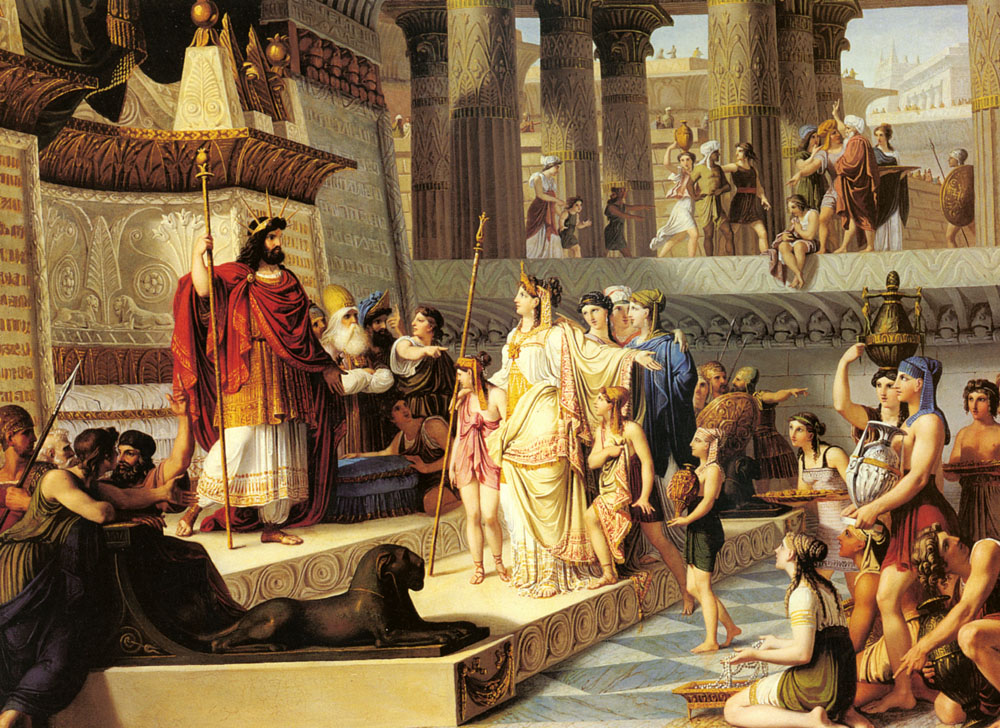 Solomon And The Queen Of Sheba | Giovanni Demin | Oil Painting