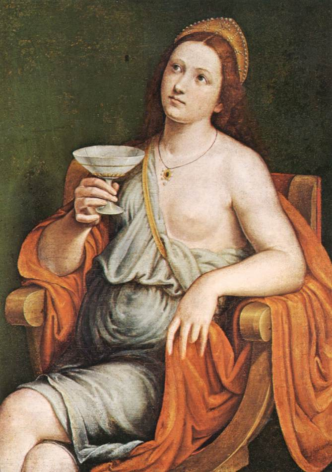 Sophonisba Drinking The Poison | Giovanni Francesco Caroto | Oil Painting