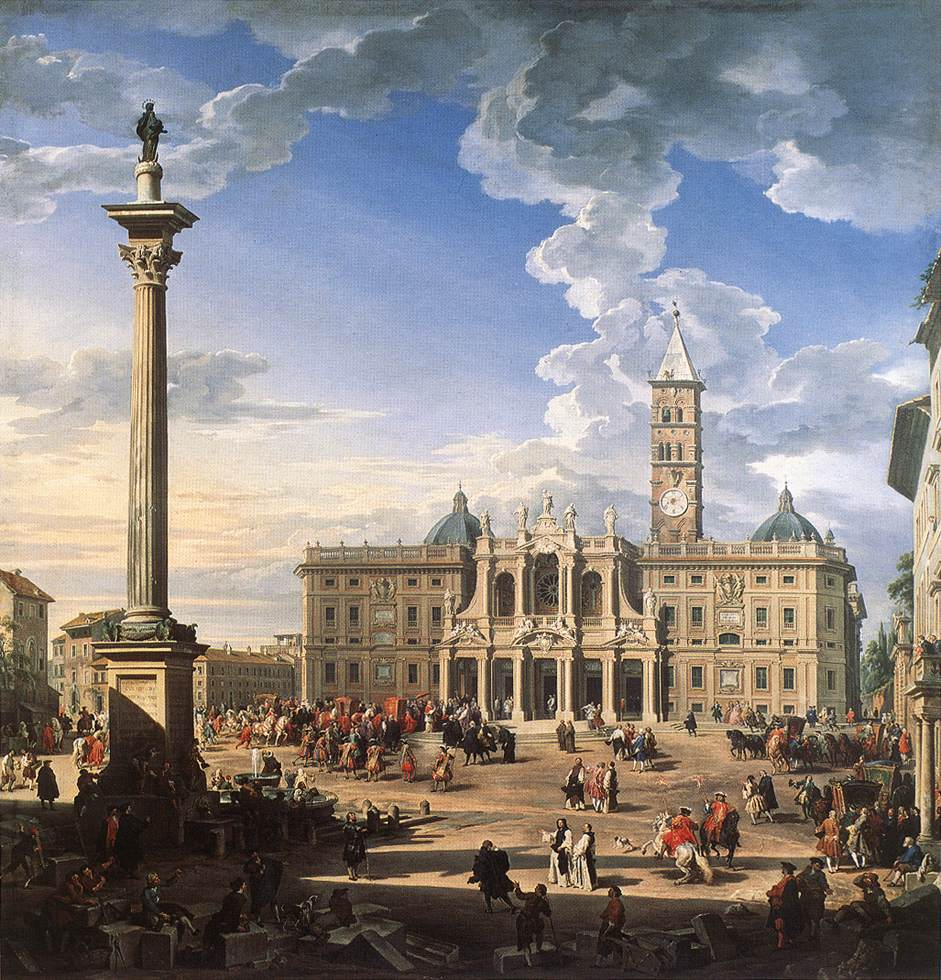 The Piazza And Church Of Santa Maria Maggiore 1744 | Giovanni Paolo Pannini | Oil Painting