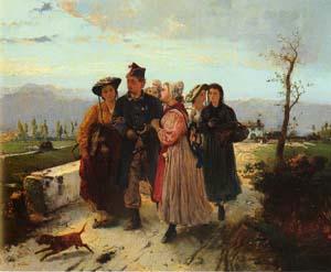 The Soldiers Return | Girolamo Induno | Oil Painting