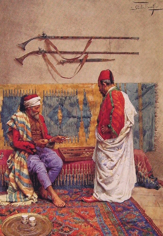 A Game of Backgammon | Giulio Rosati | Oil Painting