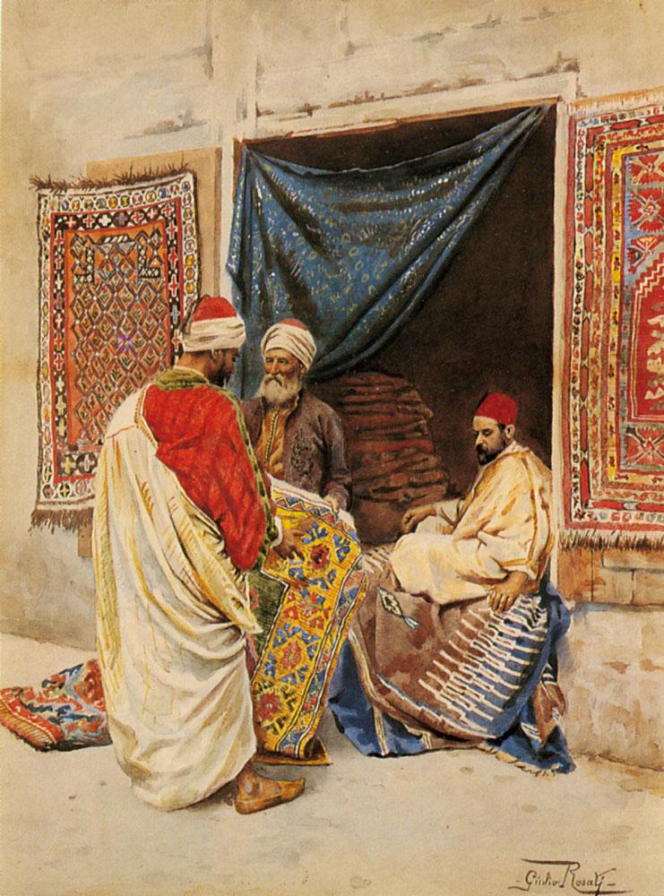 The Carpet Merchant | Giulio Rosati | Oil Painting
