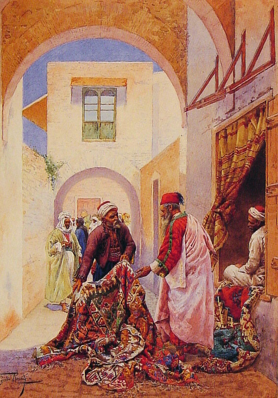 The Carpet Sellers | Giulio Rosati | Oil Painting