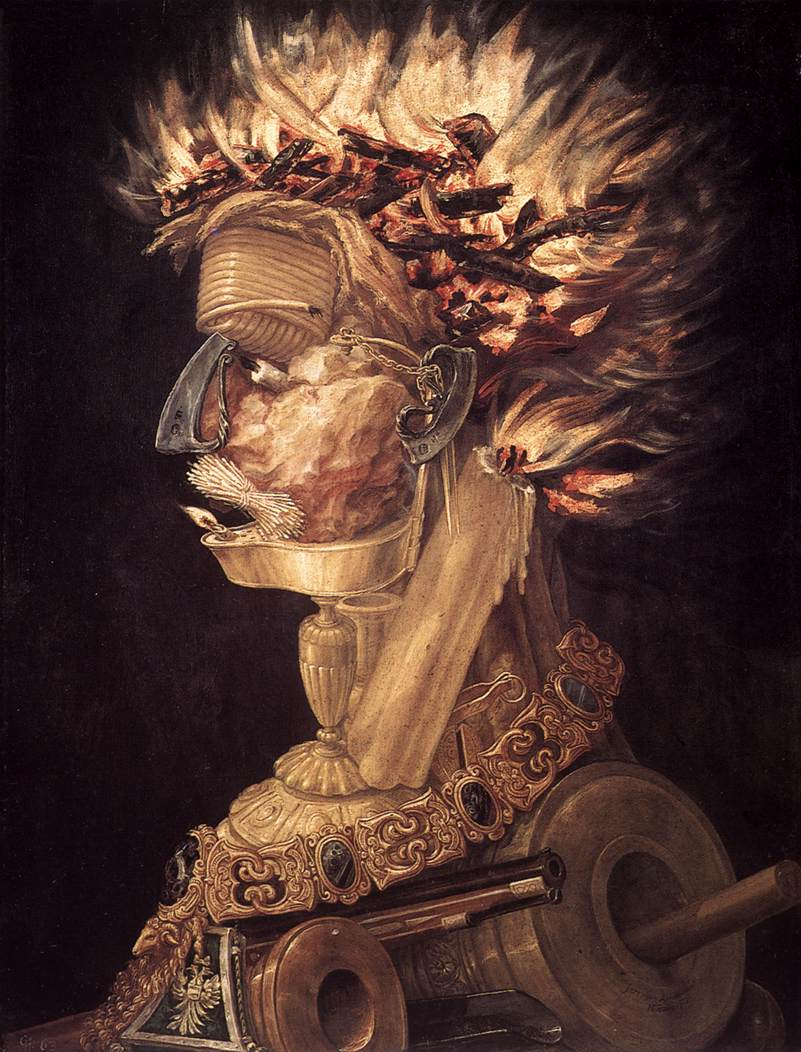 The Fire 1566 | Giuseppe Arcimboldo | Oil Painting