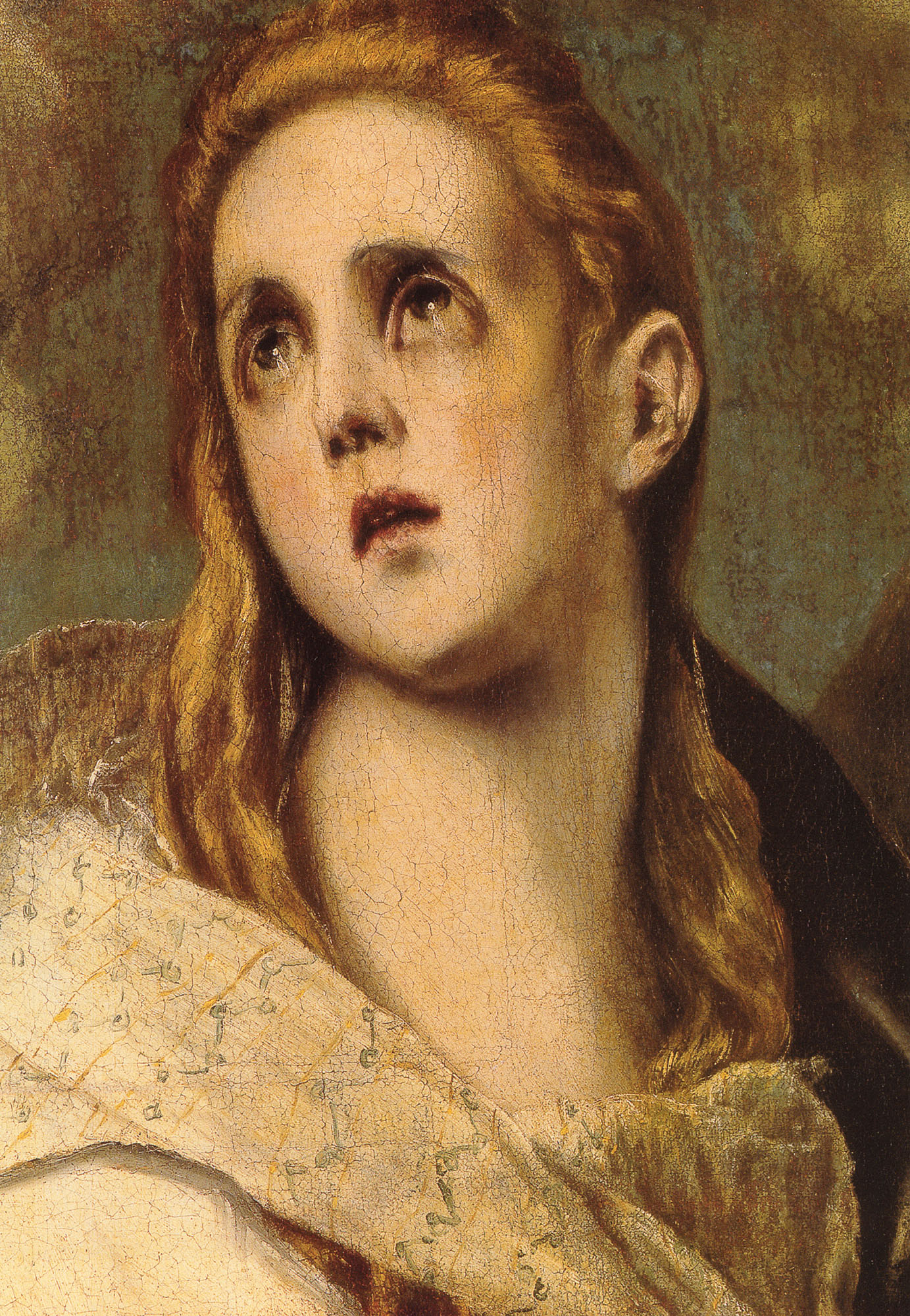 The Penitent Magdalen detail   Greco El   Oil Painting