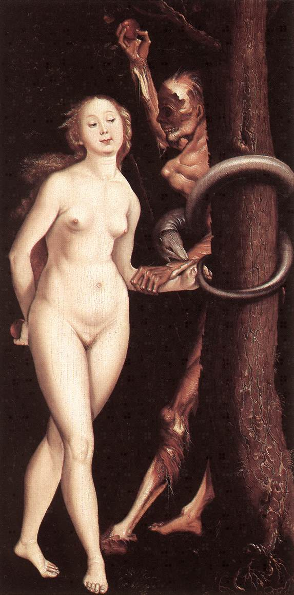 Eve The Serpent And Death 1510-12 | Grien Hans Baldung | Oil Painting