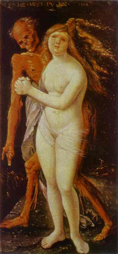 Girl And Death 1517 | Grien Hans Baldung | Oil Painting