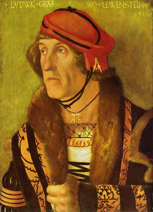 Ludwig Count Von Lowenstein 1513 | Grien Hans Baldung | Oil Painting