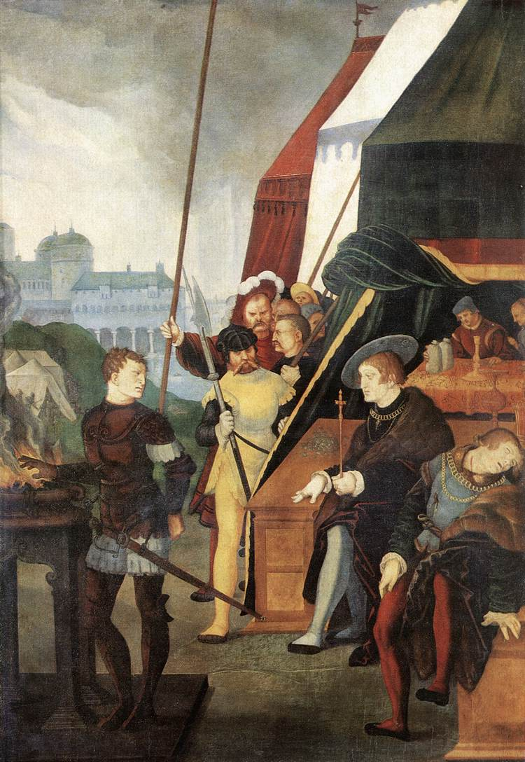 Mucius Scaevola 1531 | Grien Hans Baldung | Oil Painting