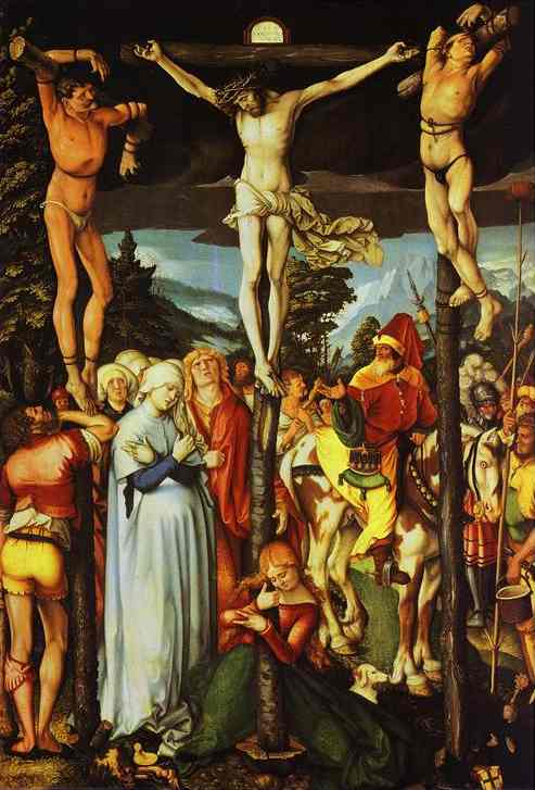 The Crucifixion 1512 | Grien Hans Baldung | Oil Painting