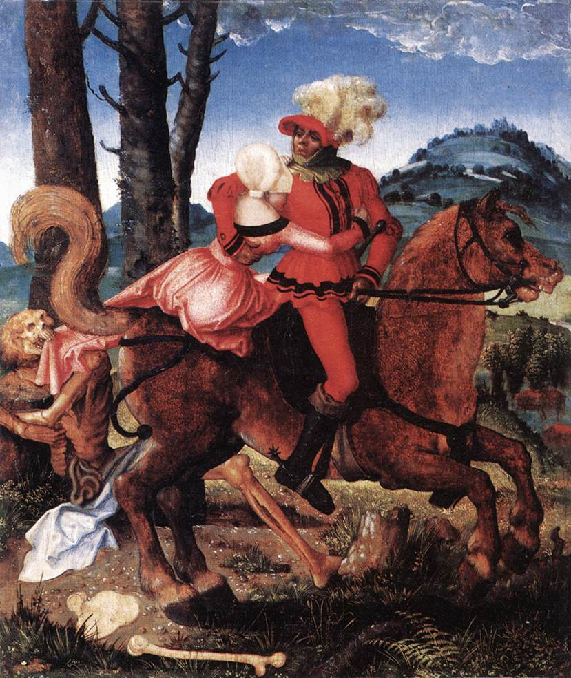 The Knight The Young Girl And Death 1505 | Grien Hans Baldung | Oil Painting