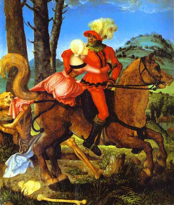 The Knight The Young Girl And Death | Grien Hans Baldung | Oil Painting