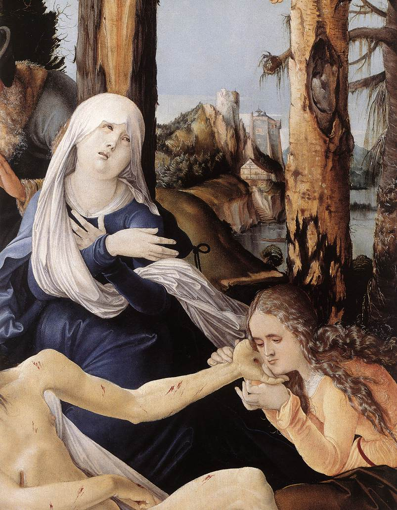 The Lamentation Of Christ(Detail) 1518 | Grien Hans Baldung | Oil Painting
