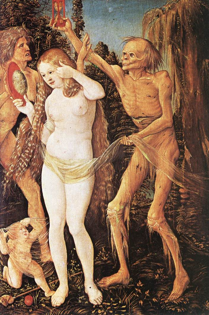 Three Ages Of The Woman And The Death 1510 | Grien Hans Baldung | Oil Painting
