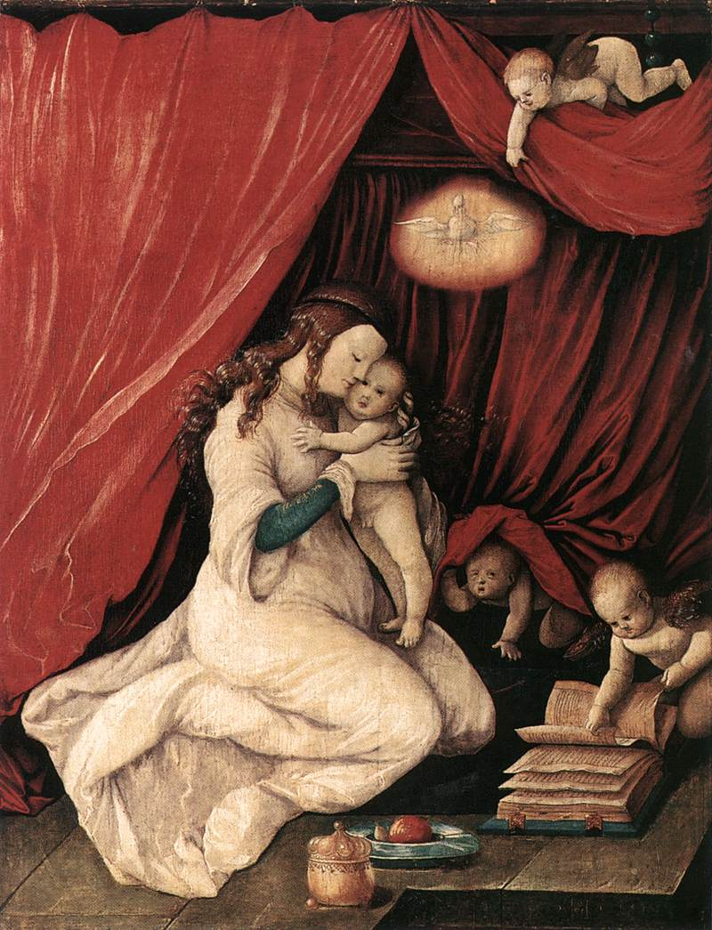 Virgin And Child In A Room 1516 | Grien Hans Baldung | Oil Painting