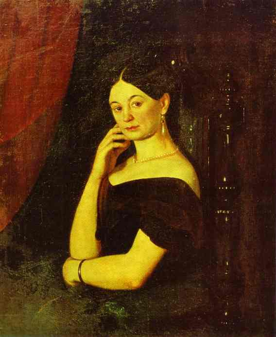 Portrait Of Anna Petrovna Milyukova 1850 | Grigoriy Soroka | Oil Painting