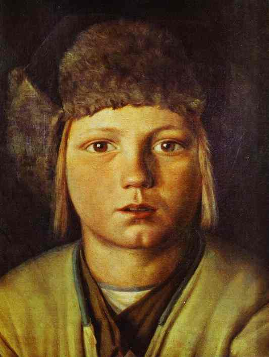 Portrait Of A Peasant Boy | Grigoriy Soroka | Oil Painting