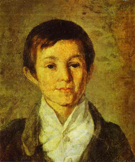Portrait Of Km Milyukov As A Child End Of 1840s | Grigoriy Soroka | Oil Painting