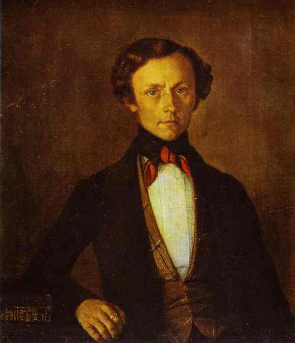 Portrait Of Va Preobrazhensky 1850s | Grigoriy Soroka | Oil Painting