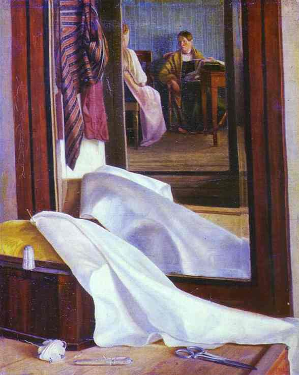 Reflection In The Mirror Second Half Of 1840s | Grigoriy Soroka | Oil Painting