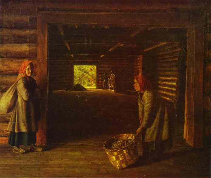 Threshing Floor 1840s | Grigoriy Soroka | Oil Painting