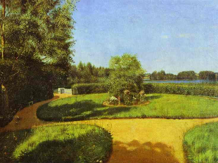 View Of A Park In The Estate Of Ostrovki 1842 | Grigoriy Soroka | Oil Painting