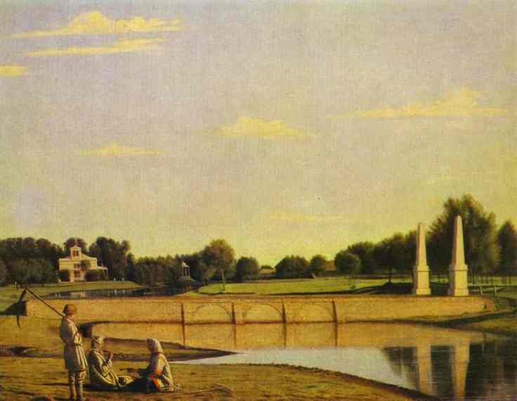 View Of The Dam In The Estate Of Spasskoe 1840s | Grigoriy Soroka | Oil Painting
