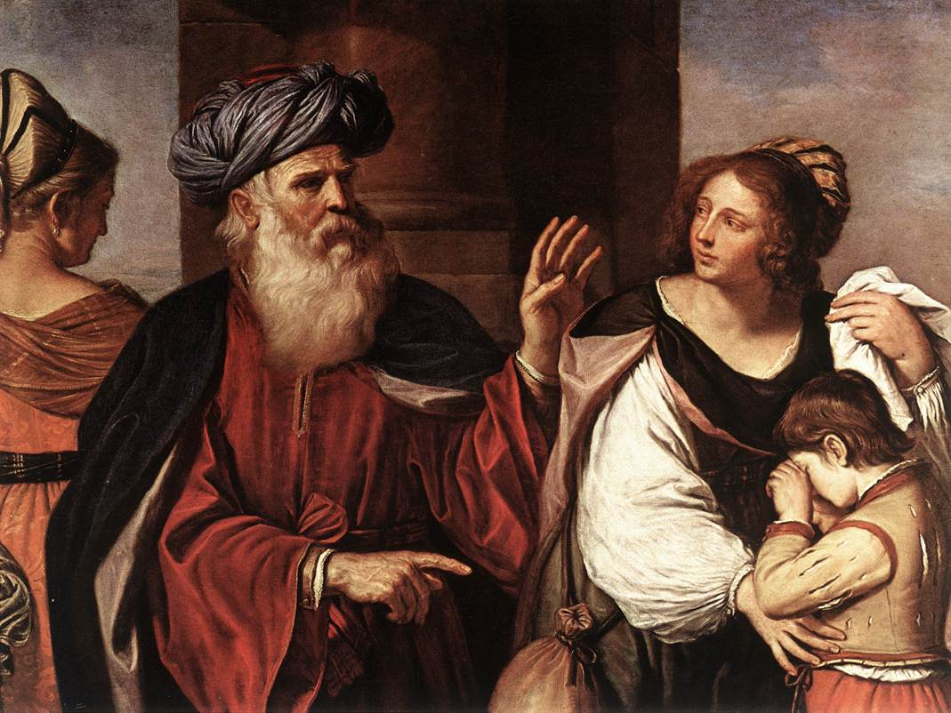 Abraham Casting Out Hagar And Ishmael 1657 | Guercino | Oil Painting