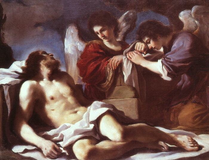 Angels Weeping Over The Dead Christ 1618 | Guercino | Oil Painting